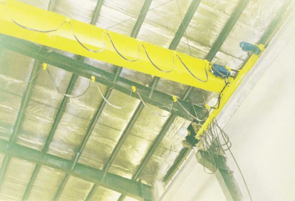 جرثقیل سقفی ۳٫۲ تن کارگاه جدار سنگ