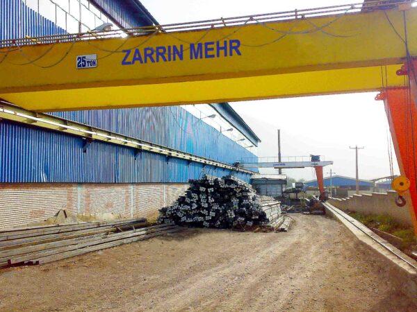 جرثقیل نیم دروازه ای ۲۵ تن شرکت مجتمع فولاد خرم آباد