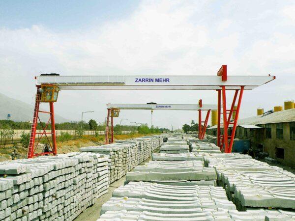 جرثقیل های دروازه ای ۱۶ تن شرکت آهن و فولاد لوشان